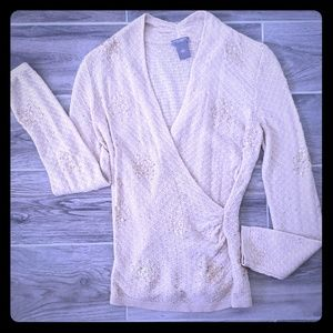 Ann Taylor Fitted Sequin Sweater